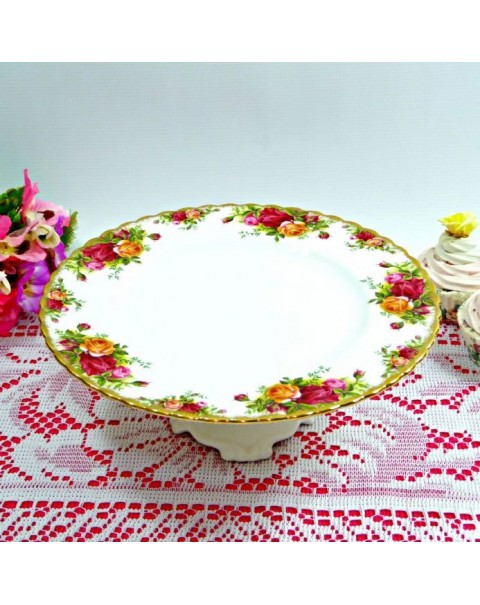 (OUT OF STOCK) ROYAL ALBERT OLD COUNTRY ROSES CAKE STAND PEDESTAL